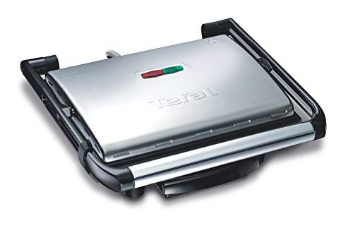 Tischgrill Tefal GC241D38 - BBQgrill | Tischgrill | ELEKTRO GRILL | Partygrill | elektrischer Grill | Kontaktgrill | BBQ Elektrogrill | Panini grill | Panini maker | 2000 W. | Cool Touch Griffe