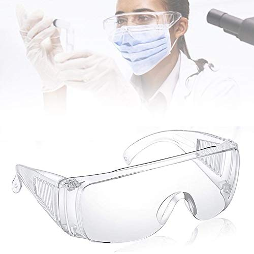 Protective Safety Glasses,Clear Science Goggles Clear Anti-dust Cycling Glasses Anti Steam Protective Glasses for DIY Work,Medical,Chemistry Lab Dust Wind Eye Protection.