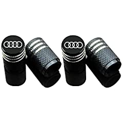 🚗 HIGH QUALITY MATERIAL - High grade & Light-Weight aluminum alloy with lasered logo. The car wheel tire air valve stem caps are durable, anti-rust, antioxidant even in extreme weather. 🚗 UNIVERSAL - Inner diameter is 7mm, and the height is 17mm, fit...