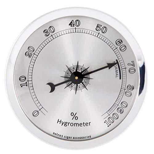 Jinyi Mini higrómetro Profesional portátil de Metal, higrómetro de Puros, Accesorio de humidor, Herramienta de detección de Humedad para medir la Humedad de los Puros