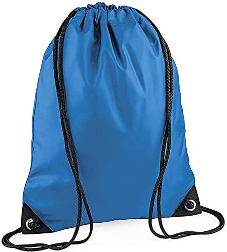 CLOTHING Sacca Zaino Sportivo Impermeabile Borsa Zainetto in Nylon con Angoli rinforzati per Scuola Scarpe Piscina Palestra Sport Adulto Bambino Lyon Team WGF (Azzurro Neutro)