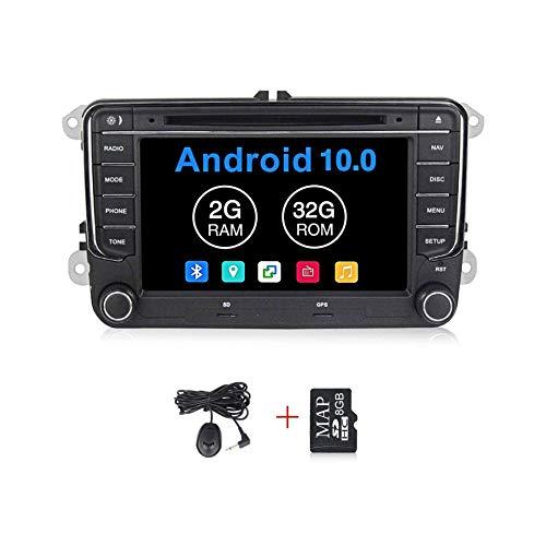 Android 10.0 OS 7 pulgadas pantalla táctil coche sistemas de radio DVD para VW Volkswagen Beetle Seat Skoda Golf 5 Golf 6 Polo Passat B7 T5 CC Jetta Tiguan vehículo GPS DSP navegación multimedia de coche