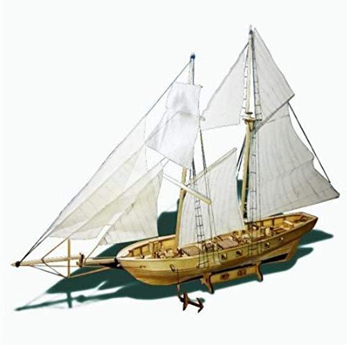 RUXMY Decoración Modelo de velero DIY Kits de construcción de Montaje Modelo de Barco Velero de Madera Juguetes Modelo de Vela Kit de Madera ensamblado