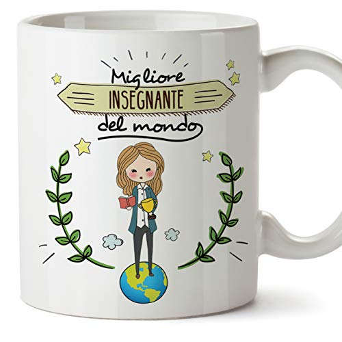Mugffins Insegnante Professoressa Tazze Originali di caffè e Colazione da Regalare Lavoratori e Professionisti - Migliore Insegnante del Mondo - Ceramica 350 ml