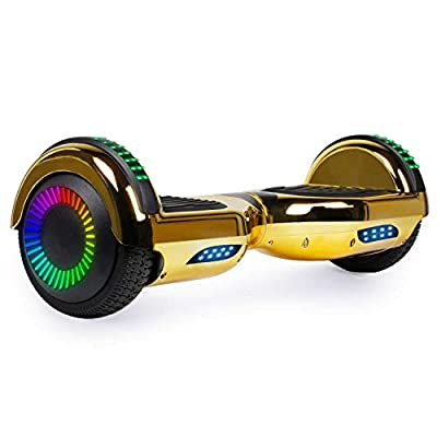 SISIGAD Hoverboard for Kids, Two Wheels Self-Balancing Hover Board with Bluetooth Speaker