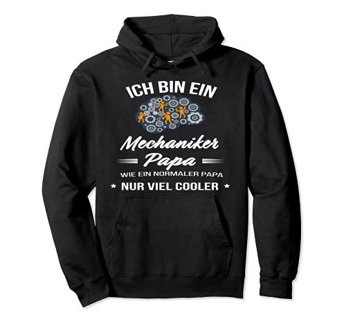 Disfraz de mecnico para el da del padre con texto en alemn 'Ich bin ein Mechaniker Papa' Sudadera con Capucha