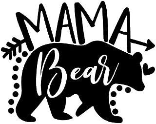 Mama Bear MKR Aufkleber, Vinyl, Schwarz, 14 x 11 cm