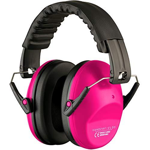 Gehörschutz für Erwachsene - Leicht Faltbar und Komfortable Gehörschutz - Kapselgehörschutz mit Hochwertige Geräuschblockierung - Lärmschutz Kopfhörer für Man und Frau – Rosa