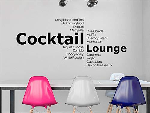 Wandtattoo Küchen Cocktail Lounge Mit Cocktail Sorten Wandaufkleber Küche Esszimmer Wanddeko