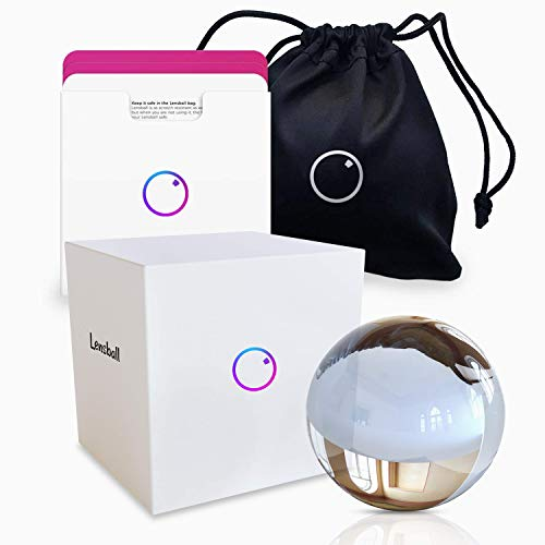 Original Lensball Pocket 60mm K9 Clear Crystal Ball Photography Sphere with Microfiber Bag