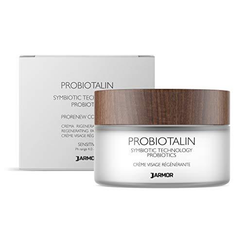 Jarmor Crema Facial Antiarrugas Contorno de Ojos Hombres Mujeres Probióticos Microbiota Aloe Vitamina C 50ml