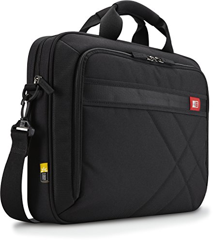 Case Logic Polyester Briefcase for 15.6-Inch Laptop and Tablet - Black