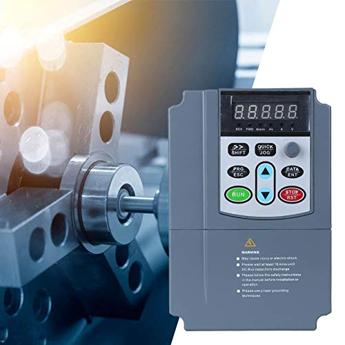 Jarchii Frequenzumrichter, 380 VAC 2,7 A 0,75 kW 3-Phasen-Universal-VFD-Wechselrichter Frequenzumrichter für CNC-Werkzeugmaschinenmischer Pumpen Förderer Luftkompressoren Lüfter