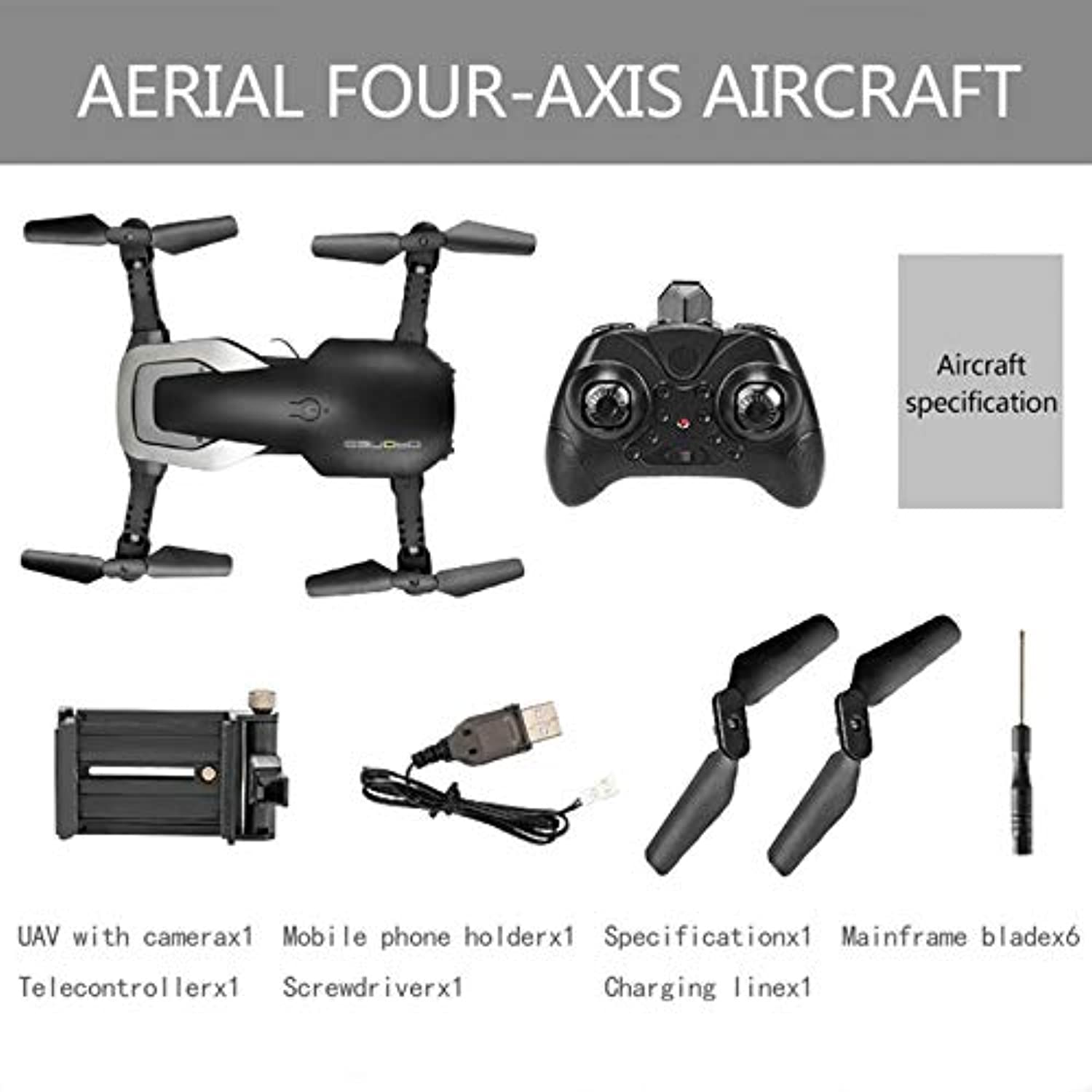 H2 2.4Ghz 480P Foldable FPV RC Quadcopter Drone Aircraft with Altitude Hold Headless Mode 360° 3D Flip One Key Start Landing