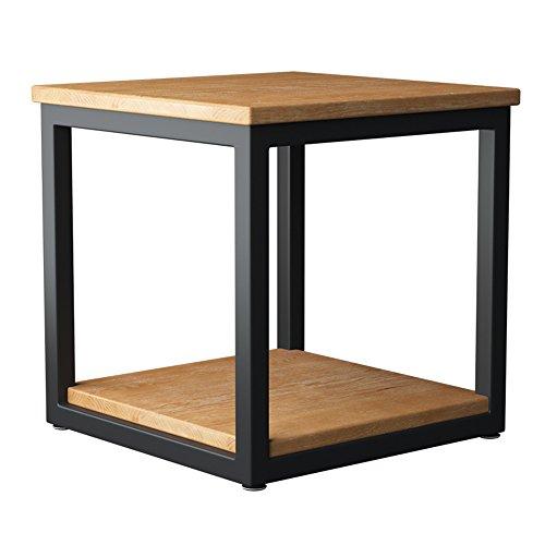 Tables de chevet Fer carré en Bois Table Basse étagère de Stockage étagère Armoire de Chevet