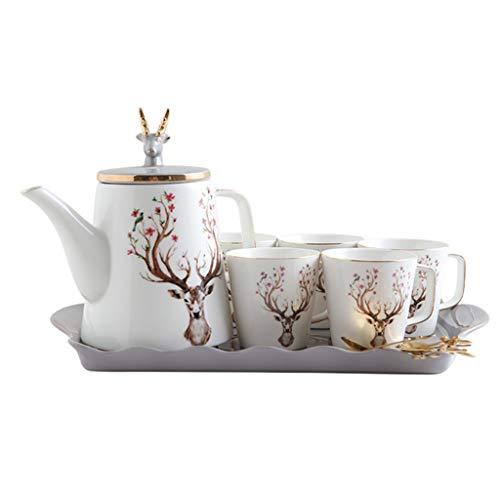 Set de té de porcelana para té de China China con plato y té (color: E)