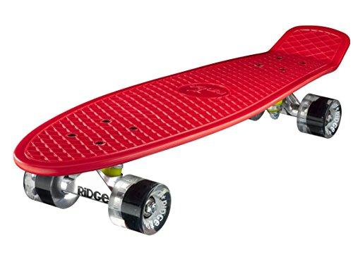 Ridge Skateboard Big Brother Nickel 69 cm Mini Cruiser, rot/klar