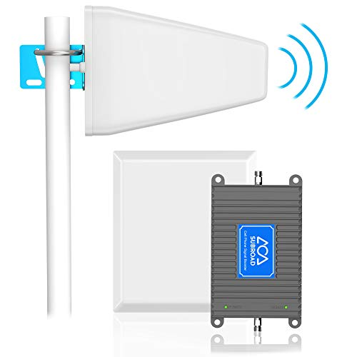 Signal Booster Verizon AT&T T-Mobile Cell Phone Signal Booster Subroad 4G LTE - Dual 700Mhz Band 12/13/17 Mobile Cellular Amplifier Repeater Kit for Home, Office Signal Coverage Up to 5,000 Sq Ft