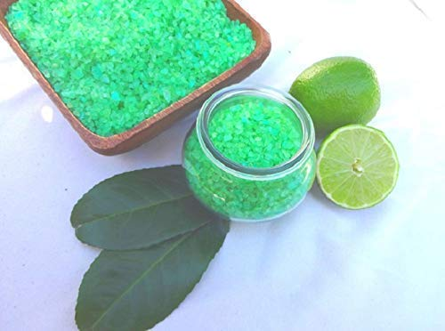 Badesalz Ginkgo Limette im Schmuck WECK-Glas, ohne Palmöl, von kleine Auszeit Manufaktur