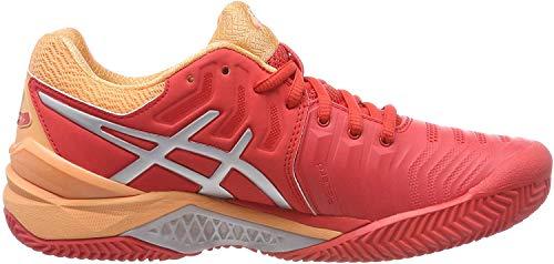 Asics Gel-Resolution 7 Clay, Zapatillas de Tenis para Mujer, Rojo (Red Alert/Silver 600), 37 EU