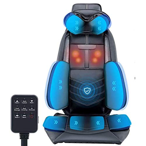 Lzour Massage Chair Pad Vibration Massage Seat Cushion Massage Chair Pad for Shoulder Neck And Back Waist Hips Fixed-Point Massage on The Back Adjustable Strength