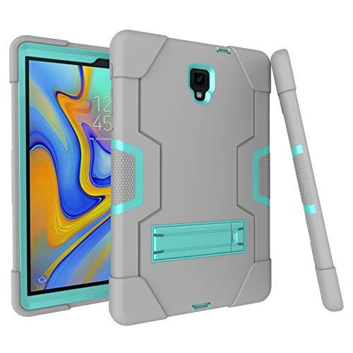 Funda ultrafina compatible con Samsung Tab A 10.5 T590/T595, funda superligera 360 °, carcasa 3 en 1, TPU goma dura, PC antigolpes, plegable, soporte trasero verde y gris Talla única