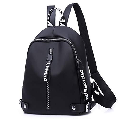 VICTOEZaino da donna, alla moda, stile casual, borsa a tracolla, borsa per studenti, in nylon impermeabile, multifunzione, zaino antifurto da viaggio, bianco (Bianco) - VICTOE-8627