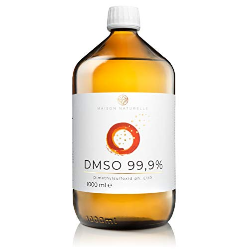 MAISON NATURELLE ® DMSO (1000 ml) – 99,9% pharmazeutische Reinheit – Dymethylsulfoxid ph. EUR unverdünnt – in Braunglasmedizinflasche