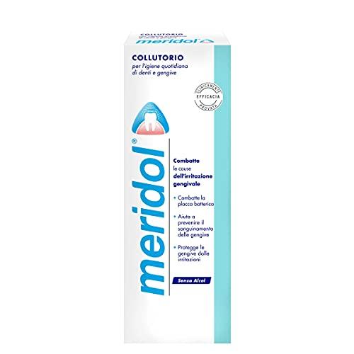 meridol Collutorio con Ingrediente Antibatterico, Protezione Gengive, Combatte i Batteri Causa dell'Irritazione Gengivale, 400 ml