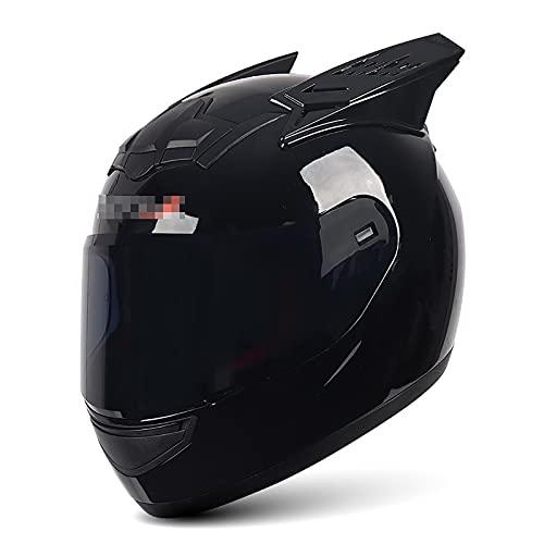 Casco Abatible De Cara Completa para Motocicleta Todoterreno con Visera Solar + Bocina Seguridad Transpirable Casco De Carreras De Bicicleta De Scooter De Cara Completa Modular Todoterreno