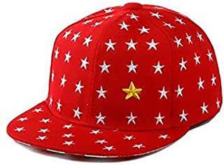 Cute Stars Hip Hop Sunscreen Cap Baseball Hat for Kids - Red