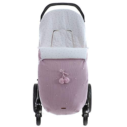 Saco de silla de paseo Universal Caterina de Uzturre (Rosa Empolvado)
