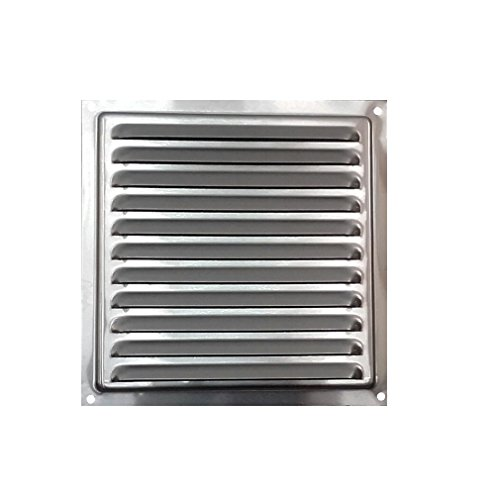 HVAC Air Vent Made from Aluminum, Aluminium Ventilation Grille with Insects Net, Outdoors/Indoors Ventilation Grille with Mesh. (11.6