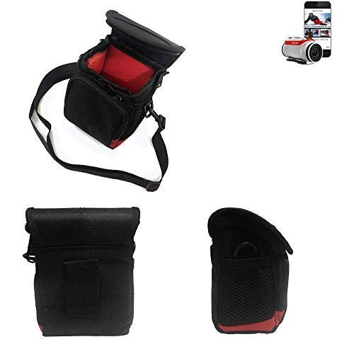 K-S-Trade® Kameratasche Fototasche Umhängetasche Schultertasche Zubehör Tasche Schutz Hülle Für Tomtom Bandit Mit Zusatzfach Und Teilbaren Innenraum Mit Trennwand