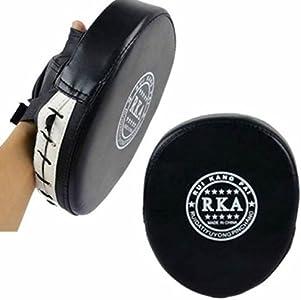 KINGDUO 1Pcs Boxeo Cuero Negro Guante Rojo Entrenamiento Target Focus Punch Soft Guante Almohadilla MMA Karate Muay Kick Kit Interior para Hogar Aptitud 6 Tamaños Cuadrados Aptitud Pared Bolsa