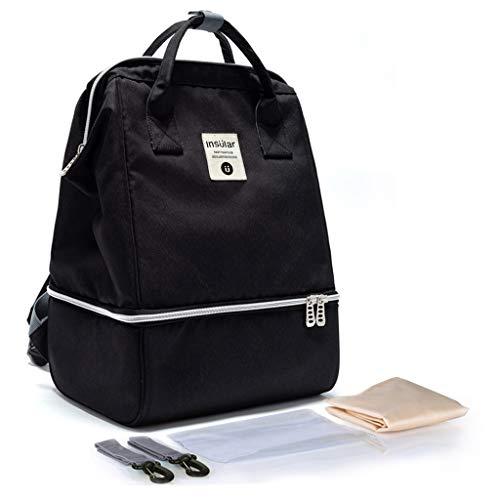 PINGDI Mummy Mom Maternity Nappy Diaper Bag Large Capacity Baby Travel Insulated Dual Layers Backpack Handbag