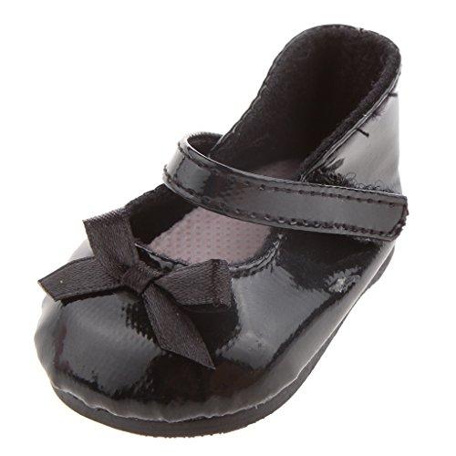 MagiDeal Chaussures de Fille Mode Noir pour Doll Enfant Cadeau