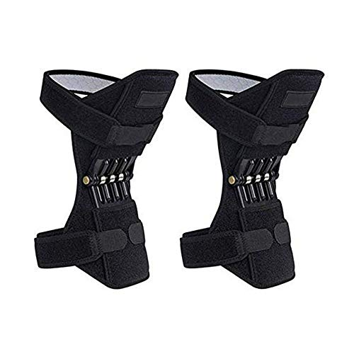Kniebooster Ondersteuning Kniebeschermers Patella Knieband Tibiaal Booster Krachtige rebound Veerkracht voor Gym Lopen Wandelen Bergbeklimmen
