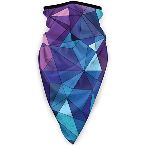 NA Masque de ski coupe-vent pour moto Motif dragon Taille unique Polygonal abstrait bleu violet