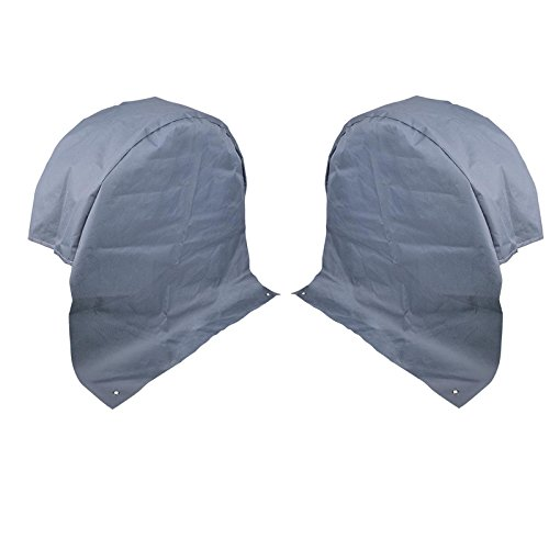 2X Wohnwagen Radabdeckung grau UV Schutz...