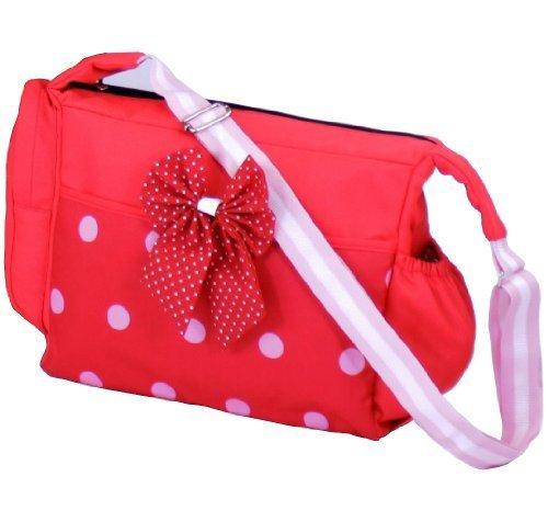 Luxury Changing Bag Complete with Changing Mat - Bow Dots by Baby Travel?