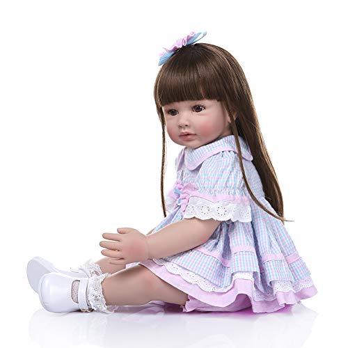 Amyove Reborn Baby Puppe, 60 cm Simulation Prinzessin Puppe Silikon Baby Lebensechte Realistische Säuglingsspielzeug Kinder
