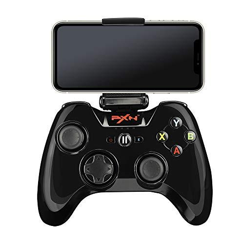 PXN Speedy(6603) Mfi Game Controller für iPhone iOS Gaming-Controller für Gamepad mit Handy-Clip für Apple TV, Ipad, iPhone (Schwarz)
