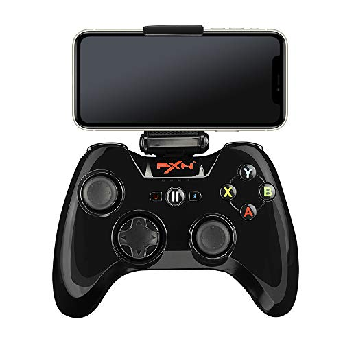 Mfi Game Controller für iPhone PXN Speedy(6603) iOS Gaming-Controller für Gamepad mit Handy-Clip für Apple TV, Ipad, iPhone (Schwarz)