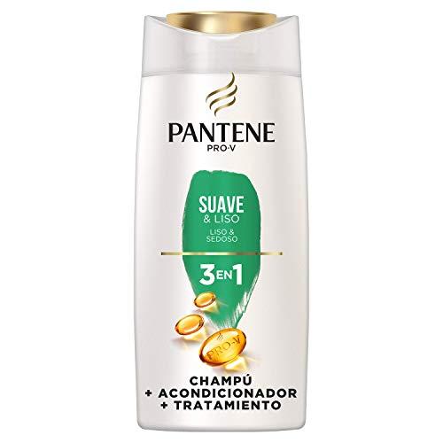 Pantene Pro-V Suave & Liso Champú, Acondicionador y Tratamiento 3 En 1, Suavidad y Control del Encrespamiento, 675 ml 🔥