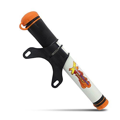 Xtreme Bright Air Mini Bike Pump - Frame-Mounted Pump Accommodates Presta & Schrader Tire Valves - Inflates to 120psi