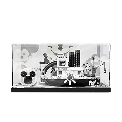 TONGJI Vitrina de Acrílico Compatible con Lego 21317 Ideas - El Botero Willie, Vitrina A Prueba De Polvo (Modelo No Incluido)