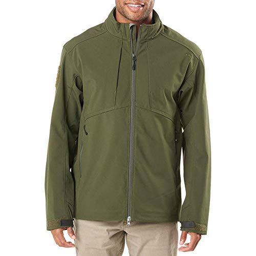 5.11 Tactical Series Sierra Softshell Jacket Homme, Moss, FR : L (Taille Fabricant : L)