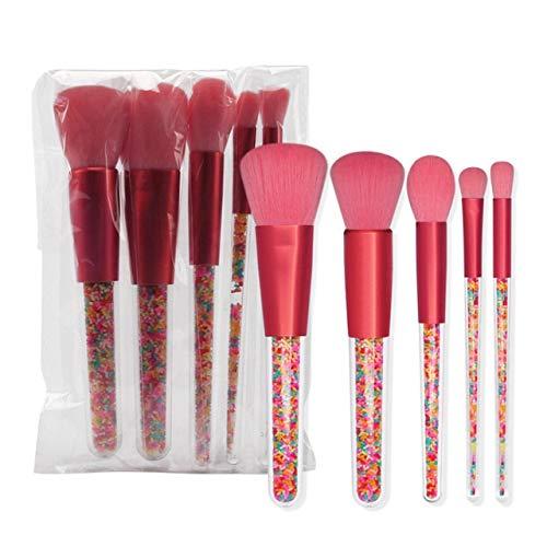 PoplarSun Fard à Joues Brush Bonbon Pinceau de Maquillage poignée Portable 5 Pcs Maquillage Pinceaux Pinceau Sourcils