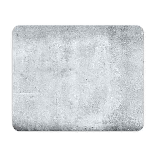 Mauspad in Beton-Optik I 24 x 19 cm I Mousepad in Standard-Größe, rutschfest I schlicht modern I Stein-Optik Granit grau I dv_639